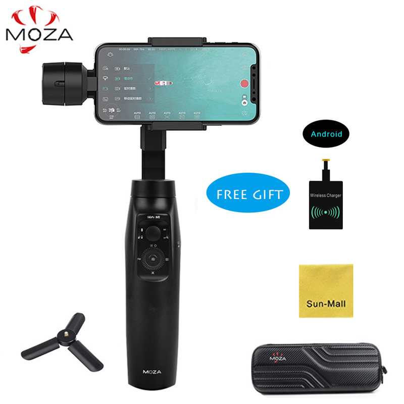 MOZA MINI MI 3-Axis Handheld Gimbal Stabilizer for Smartphone iPhone X Samsung S9 Payload 300g with Wireless Charging Receiver moza mini mi mini mi smartphone 3 axis brushless handheld gimbal stabilizer for iphone x plus 8 samsung s9 s8 gopro pk dji osmo
