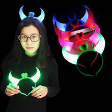Head Band Devil Horns Party Dance holiday light Luminous night Light Child Adult Headband P25