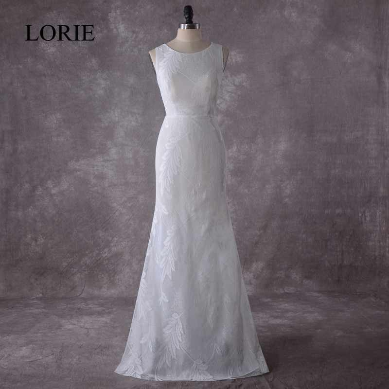 b3778cfcb7a59 LOIRE Vintage Lace Wedding Dress Mermaid 2018 Simple Bridal Dress Vestido  de novia Wedding Gowns Floor Length China Custom Made