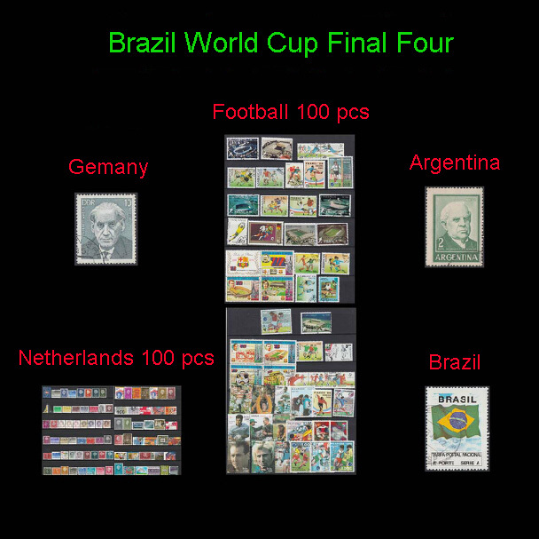 postage stamp,with postmark, postage stamp about <font><b>brazil</b></font> <font><b>world</b></font> <font><b>cup</b></font> final four, 153 pcs, <font><b>football</b></font> stamp collection