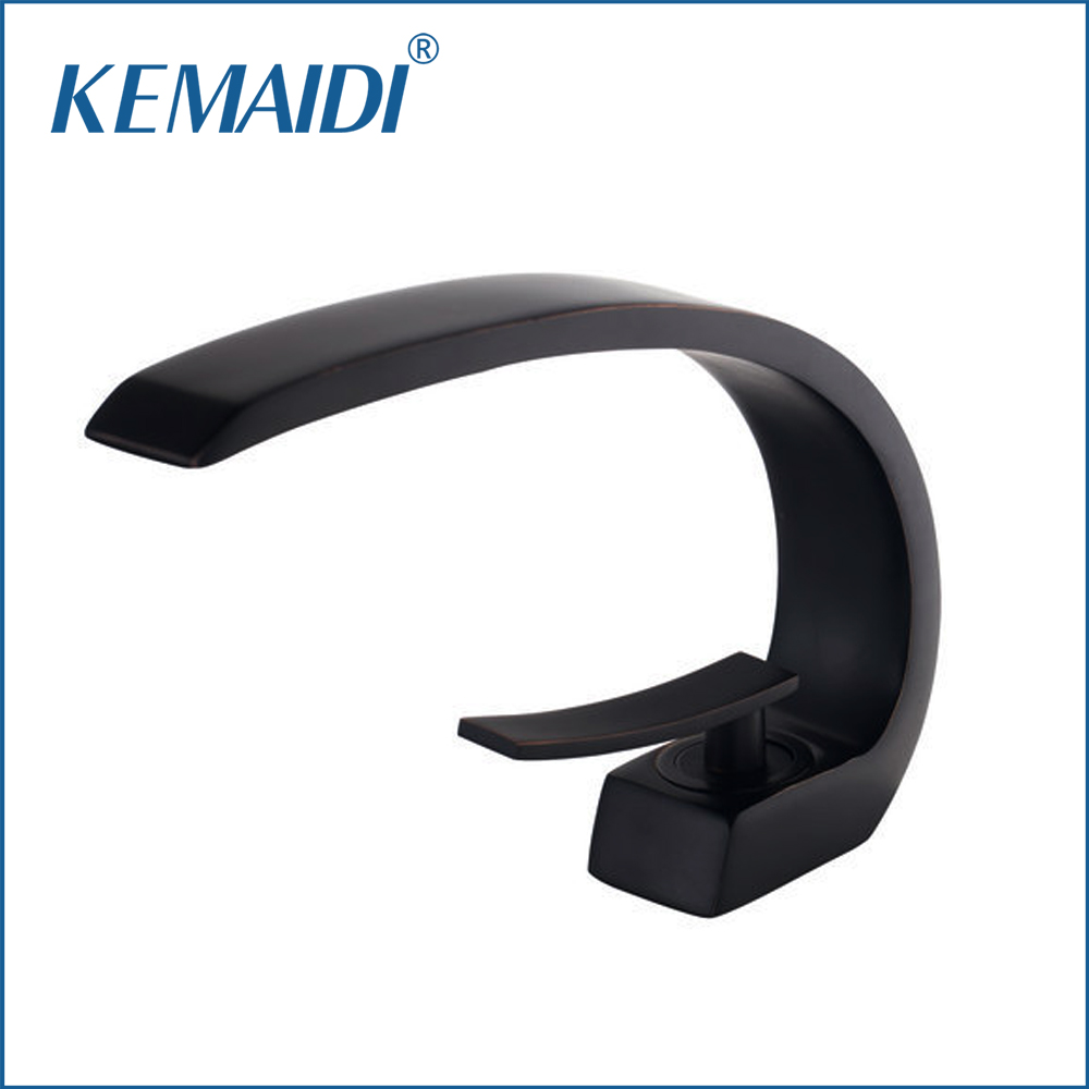 KEMAIDI New Design Bathroom Sinks Faucet Oil Rubbed Bronze Deck Mounted Mixer Basin Tap Solid Brass Bathroom Sink Faucet 9910B fashion design goose neck brass robinet bathroom basin tap faucet