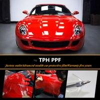 100 cm x 300 cm (40 ''x 118'') TPH car styling styling Rhino Skin Car Bumper Capa Proteção da Pintura Película de Vinil Transparente Transparência Filme