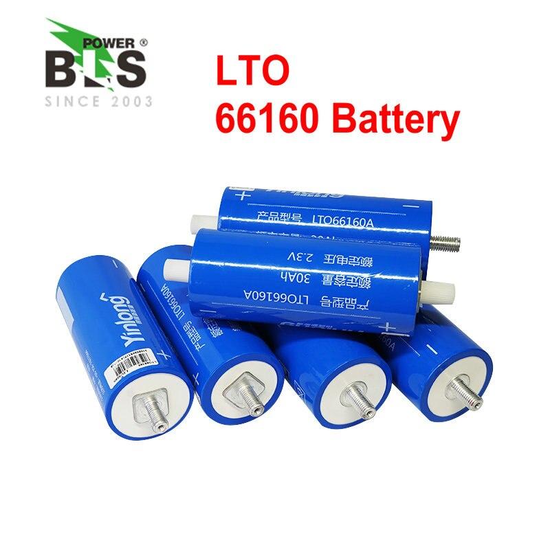10pcs Lithium titanate battery 2.4V 30AH LTO Cylindrical baterie 66160 for 24V 36V 48V electric motor electric car Fishing boat