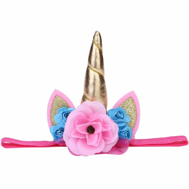 78eb8677035 Gold Magical Unicorn Cartoon Head Party Hair Headband Bebe Hair Accessories  Children Baby Girl Kids Gift Cosplay headwear Props