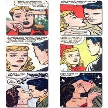 Vintage 1900s Pop Art Romance Comics la naturaleza de goma para mesas Mouse Pad ordenador portátil, caja del ordenador ratón Mat