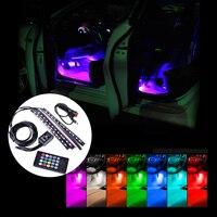 DWCX 12V LED Strip Light Car Interior Atmosphere Light Music Sound 8 Colors Multi Color Decoration