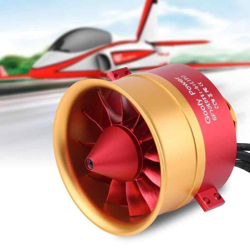 GP70mm 46 S 12 ใบมีด 70mm ท่อพัดลม 2150KV Outrunner มอเตอร์สำหรับ RC EDF Jet เครื่องบินเครื่องบิน RC มอเตอร์