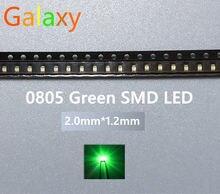Ultra Bright LED SMD 0805 Verde novo lighte 560-575NM 70-200MCD I (mA): 20ma 3000PCS