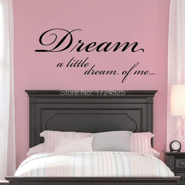 Clstrose Sale Modern Diy Dream A Little Of Me Bedroom Wall Stickers