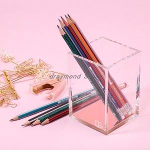 Image 4 - Премиум акриловый и розовое золото карандаш/держатель для ручек Настольный набор офисные аксессуары