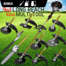 9 in 1 Heavy Duty Grass cutter with 52cc Engine Multifunction petrol Petrol strimmer Tree Pruner