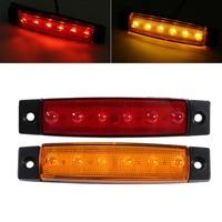 AUTO 10x 6 LED Trailer Indicator Side Marker Bus Clearance Lamp 24V Rear Lights External Lights
