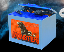 Godzilla Movie Musical Monster Moving Electronic Coin Money Piggy Bank Box DHL Fedex Free Shipping