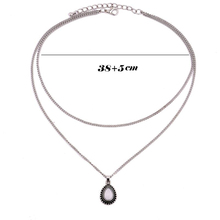 New Fashion Double Horn Necklace Crescent Water Drop Necklace Boho Jewelry Minimal Girlfriend Gift drop shipping C135