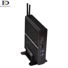 Безвентиляторный мини-ПК Intel Core i7 5500U 4500U NUC мини настольный компьютер бродуэлл 2 HDMI SD Card 4 К HTPC Mini-ITX Micro PC TV Box