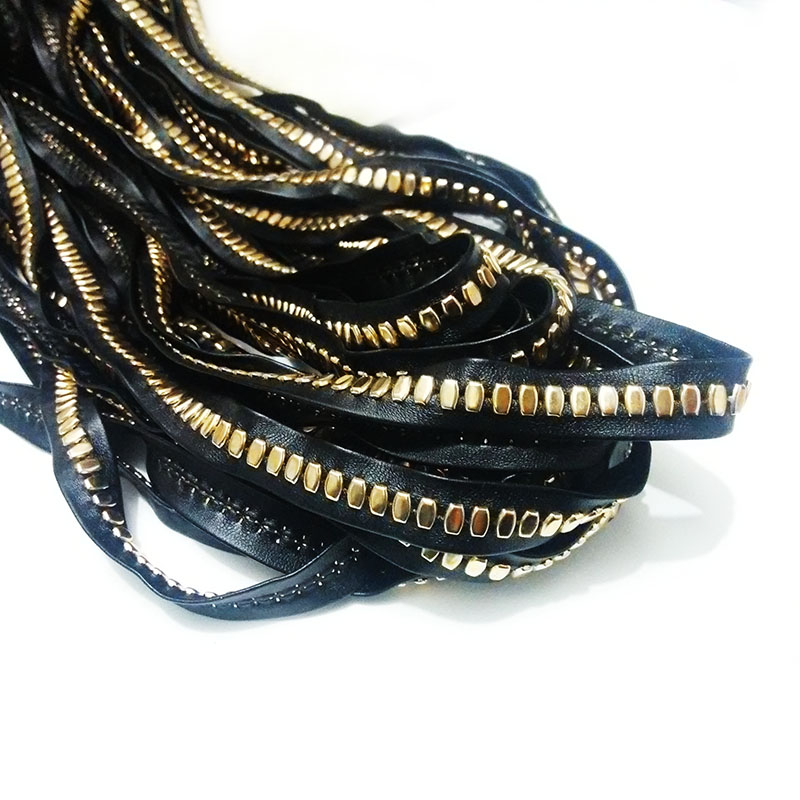 punk flat faux suede leather cord wrap choker necklace chains rope kc gold rivet stud bracelet cloth synthetic jewelry findings