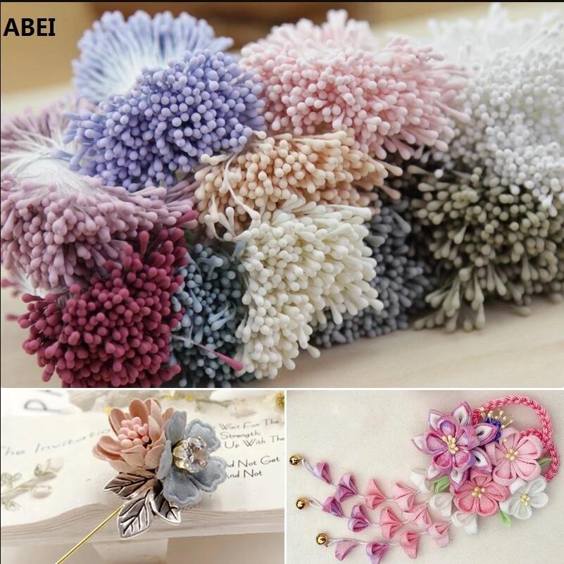 AM/_ 400PCS Artificial Flower Stamen Double Tip Foam Craft Wedding Cakes Decorati