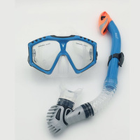 Professional Scuba Diving Mask Swimming Scuba Total Dry Snorkel Silicone Mask Glass Lens Diving Mask Snorkel Mirror