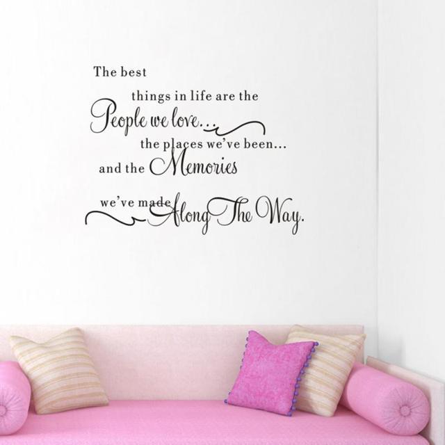 de beste dingen in leven muurstickers verwijderbare engels woorden slaapkamer woonkamer achtergrond muur papers home decoraties