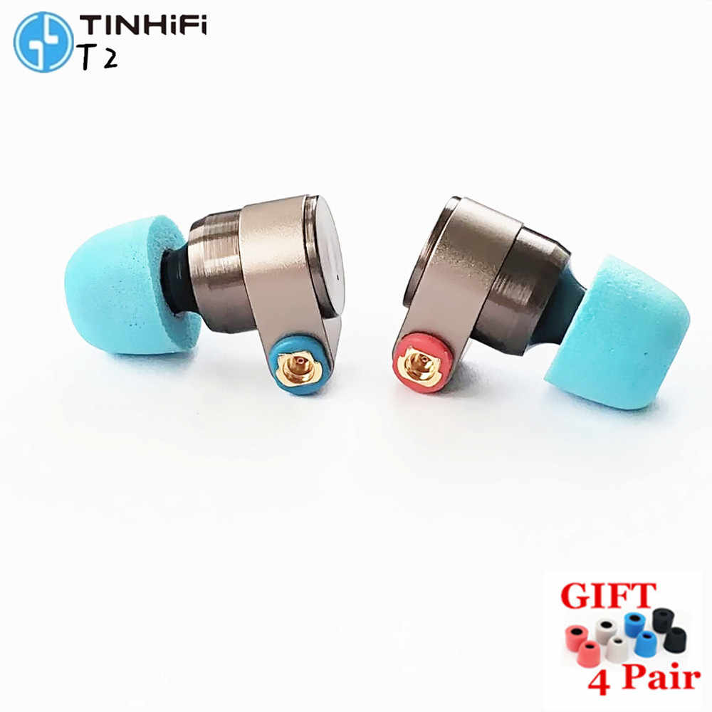 TINHIFI T2 earphones dual dynamic drive HIFI bass earphone DJ metal earplug earphone with MMCX earphone T2 PRO T3 P1 V80 S7 S2