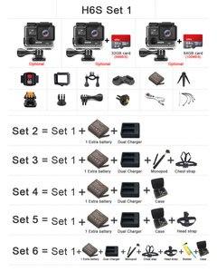 Image 2 - Original EKEN H6S Ultra HD 4k 30fps Action Kamera mit Ambarella A12 chip im inneren 30m wasserdicht EIS gehen sport kamera pro cam dvr