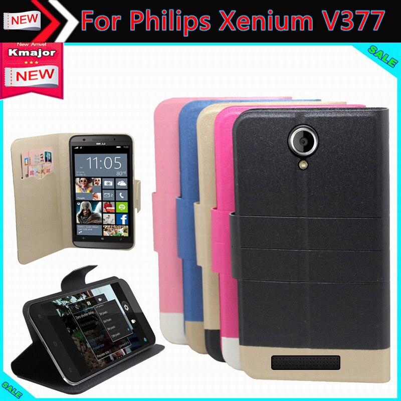 Nuevo Caliente! philips xenium v377 teléfono case, 5 Colores de la Alta calidad