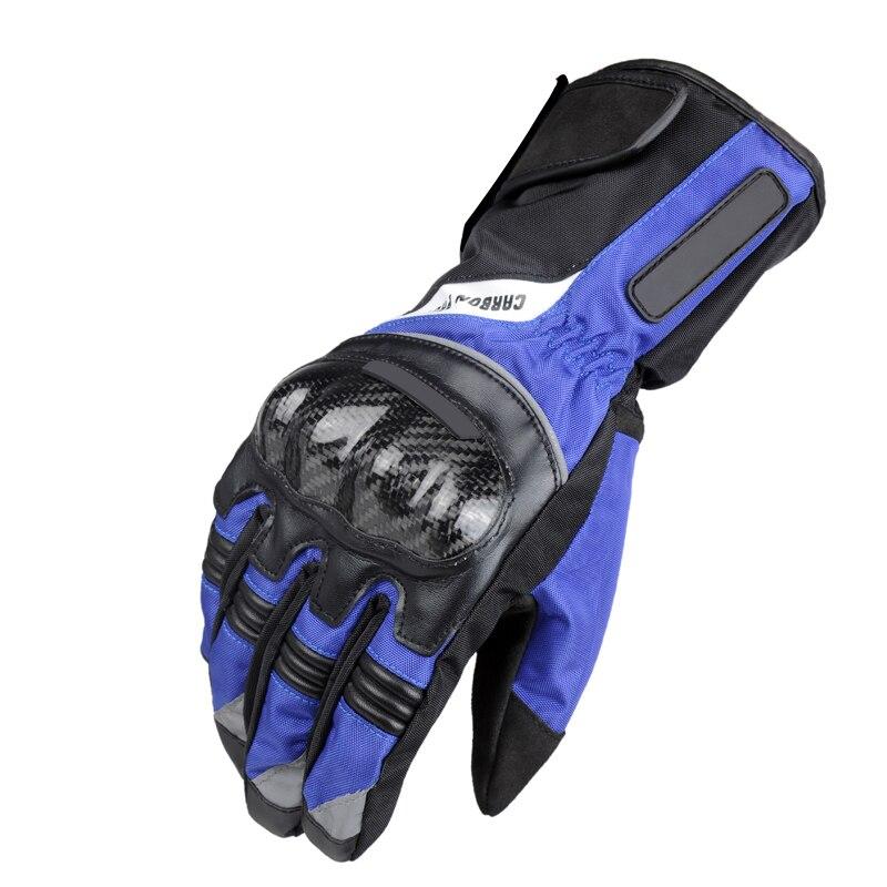 Motorrad Handschuhe Kohlefaser Warme Winddicht Wearable Wasserdichte Schutzhandschuhe Guantes moto Luvas de Moto luva motoqueiro
