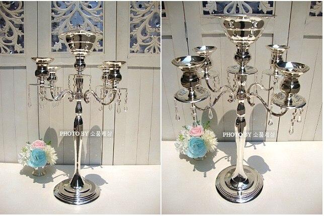 10 pcs/lot 68 cm (H) centres de table en argent accessoires de mariage lustre de Table10 pcs/lot 68 cm (H) centres de table en argent accessoires de mariage lustre de Table
