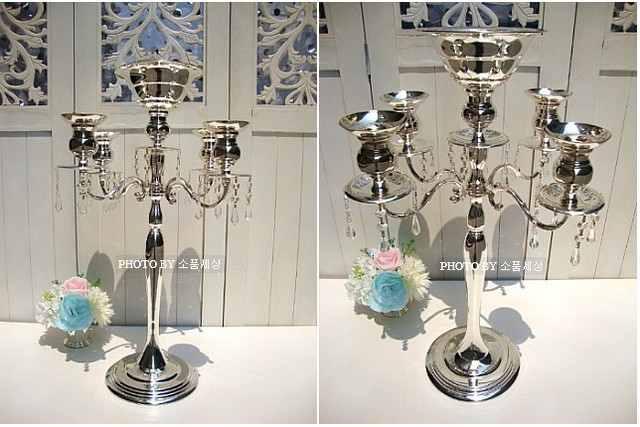 10pcs Lot 68cm H Silver Table Centerpieces Wedding Props Chandelier