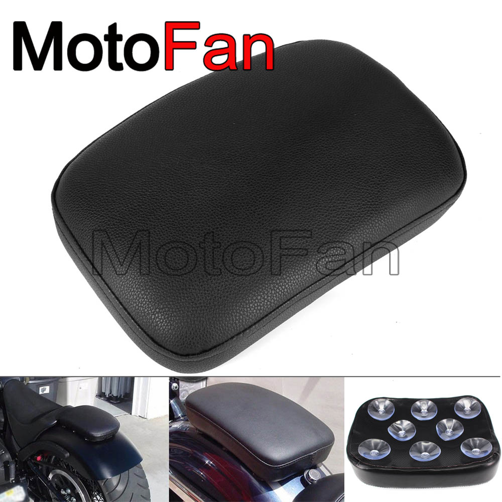 Motorcycle Pillion Pad Suction Cup Seat Cushion Rear Passenger Saddle for Harley Davidson Dyna Sportster Softail Touring Fat Boy