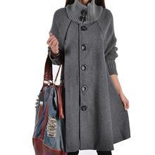 woman Long Female Jacket Overcoat Cloak Windbreaker Loose Winter Wool Coat Women Autumn Manteau Femme Hiver Cape Warm Tweed XXL