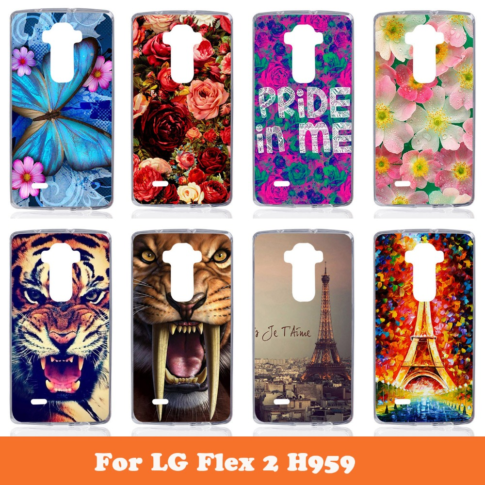Colorful Hard Back Phone Case For LG G Flex 2 H959 LS996 H950 With Package Painting Cover Several Pattern Choice