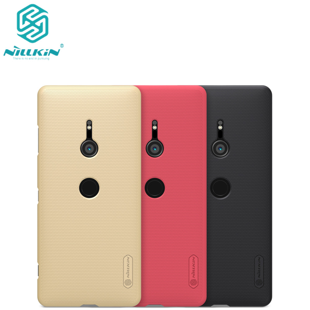 10pcs lot wholesale NILLKIN Super Frosted Shield matte PC hard back cover case for Sony Xperia