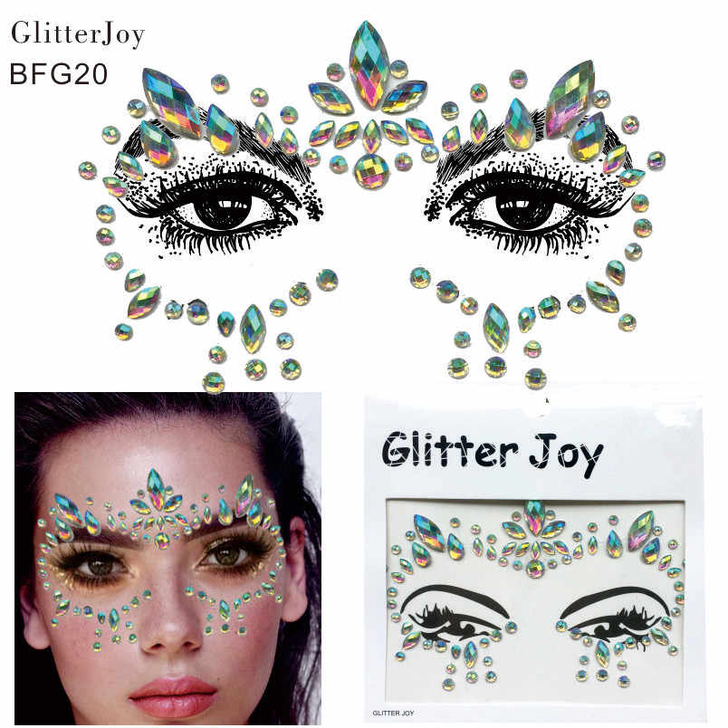 Detail Feedback Questions about BFG20 1Pc Adhesive Resin Face jewels Gems  Temporary Tattoo Face Jewels Festival Party Body Gems Rhinestone Sticker on  ... daf625a71af7
