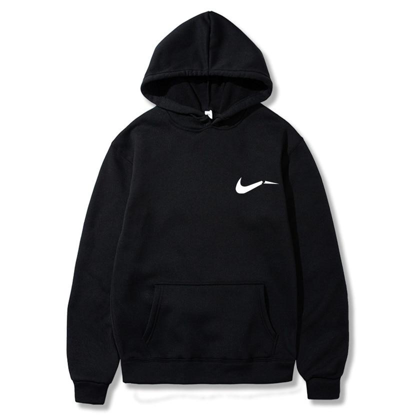 Print Hoodies Sweatshirts Streetwear Hip-Hop Black Size New-Fashion Brand S-3XL Gray