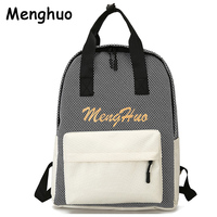 Menghuo Women Backpack 2017 New Spring And Summer Students Backpack Girls Cool Korean Personality Backpacks Letter