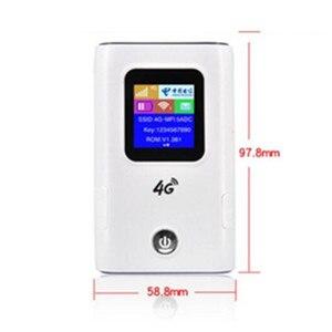 Image 3 - KuWFi 4G LTE راوتر لاسلكي 4G 5200mAH قوة البنك المحمولة واي فاي جهاز توجيه ببطاقة Sim فتحة دعم 10 مستخدمين