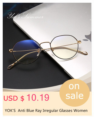 a0c613e0a0a DIDI Anti Radiation Small Round Clear Eyeglasses Women Men Metal ...