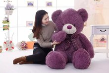 huge 160cm purple teddy bear plush toy bowtie bear doll,soft hugging pillow, birthday gift Xmas gift d2494
