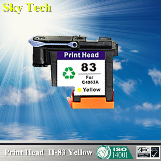 1 Yellow Ink cartridge Head  For HP 83 Printhead , C4963A Remanufactured  head For Hp DesignJet 5000 / Hp DesignJet 5500