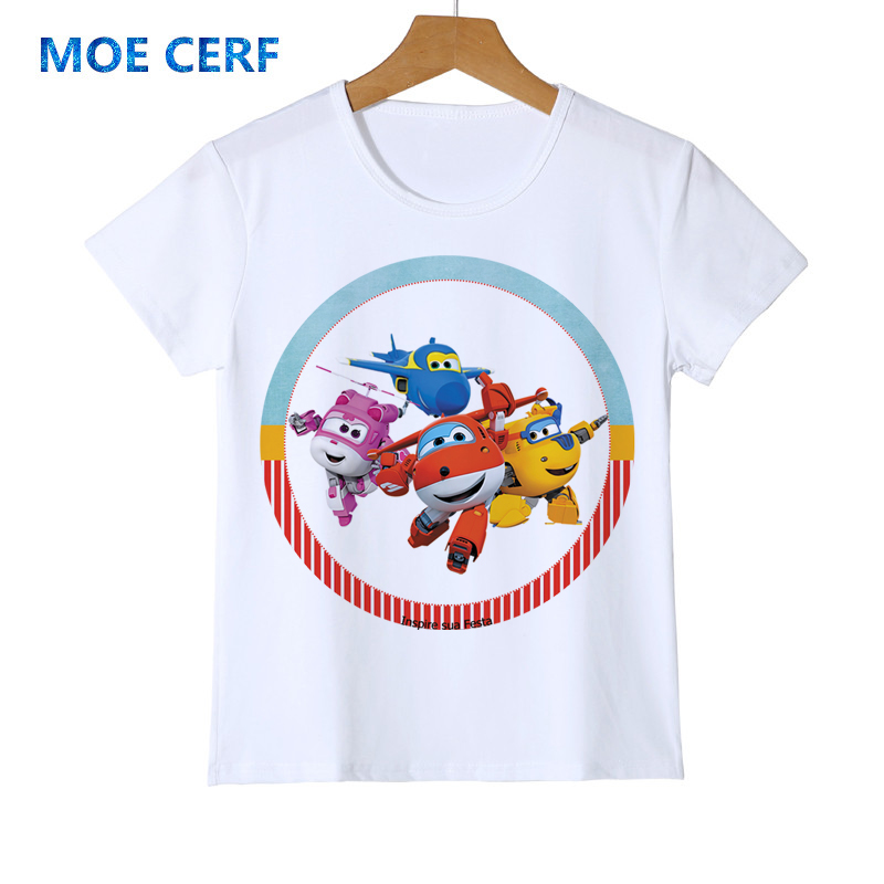 Super Wings Kids T Shirt Boys Girls Superwings T-shirts Children Unisex Tops Tees Fashion Summer Short Sleeve Tshirts Z43-3