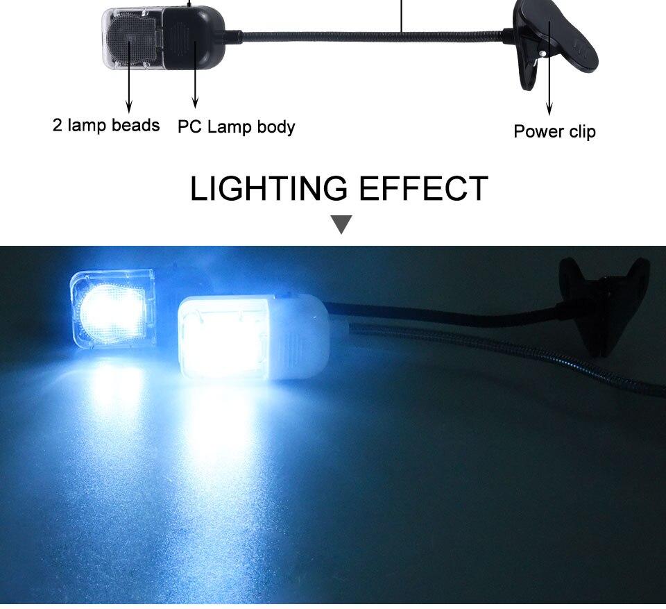 LED Book Light Mini Clip-On Flexible Bright Reading Lamp For Travel Bedroom Christmas New Year Children Baby Gift Night Lighting (7)
