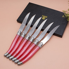 France 3pcs High quality laguiole stainless steel Steak Knife Set dinnerware cutlery set tableware