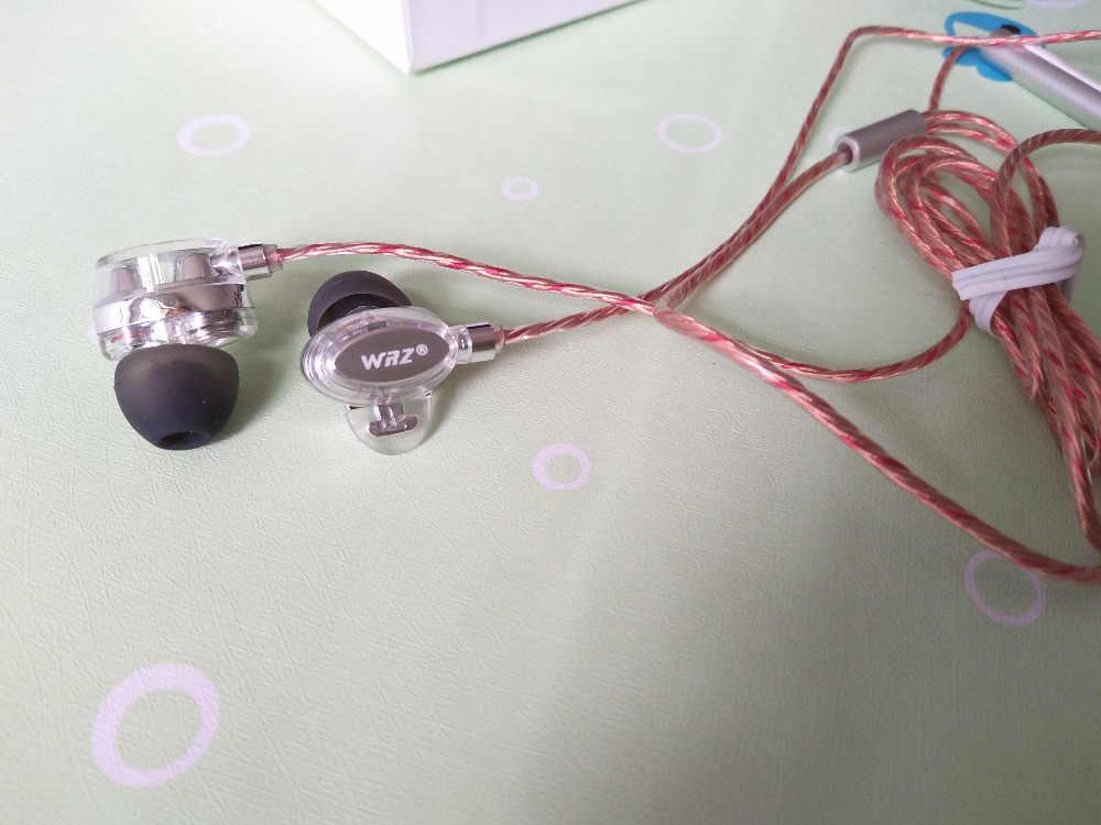 WRZ X7 наушники в ухо двойной Динамический HiFi наушники Bass Музыка гарнитура 3,5 мм Джек наушник bluetooth с микрофоном наушники для MP3 чехол для телефона