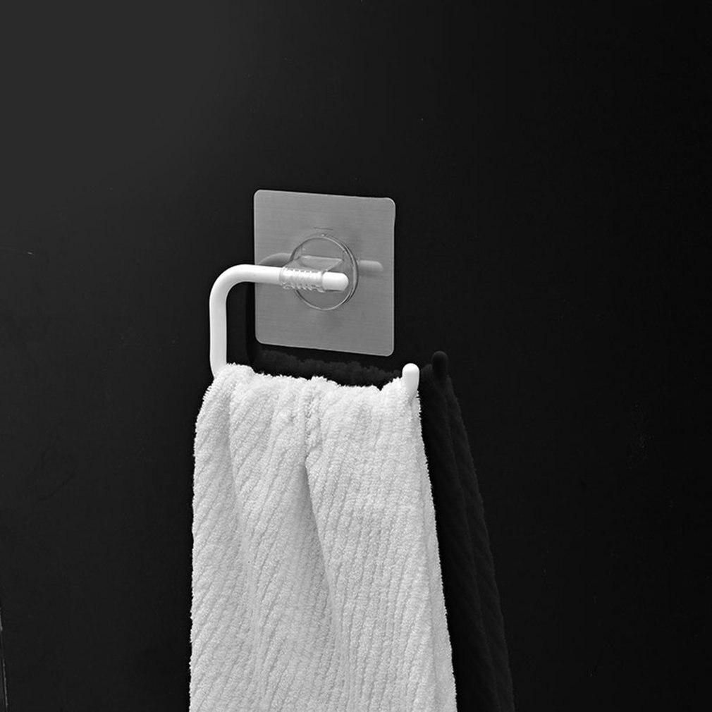 Bath Towel Rack Wall Mounted Bath Towel Holder Double Towel Rails Holder Dropshipping