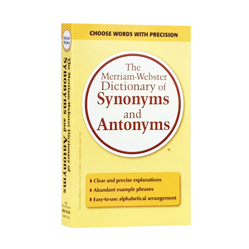 The Merriam-Webster Dictionary Of Synonyms And Antonyms English Version New Hot Selling Fiction Book For Adult Libros