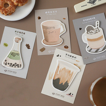 1X  Cup series Creative Memo Pad Kawaii School office Supplies Planner Stickers Paper Bookmarks Korean Stationery