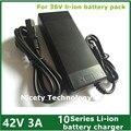 42V3A bicicleta eléctrica cargador de batería de litio de 36 V batería de litio DC 5.5*2.1mm o 5.5*2.5mm Enchufe/conector freeshipping