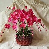 Diy折り紙花紫butterfly蘭盆栽手作りクラフト家の装飾に