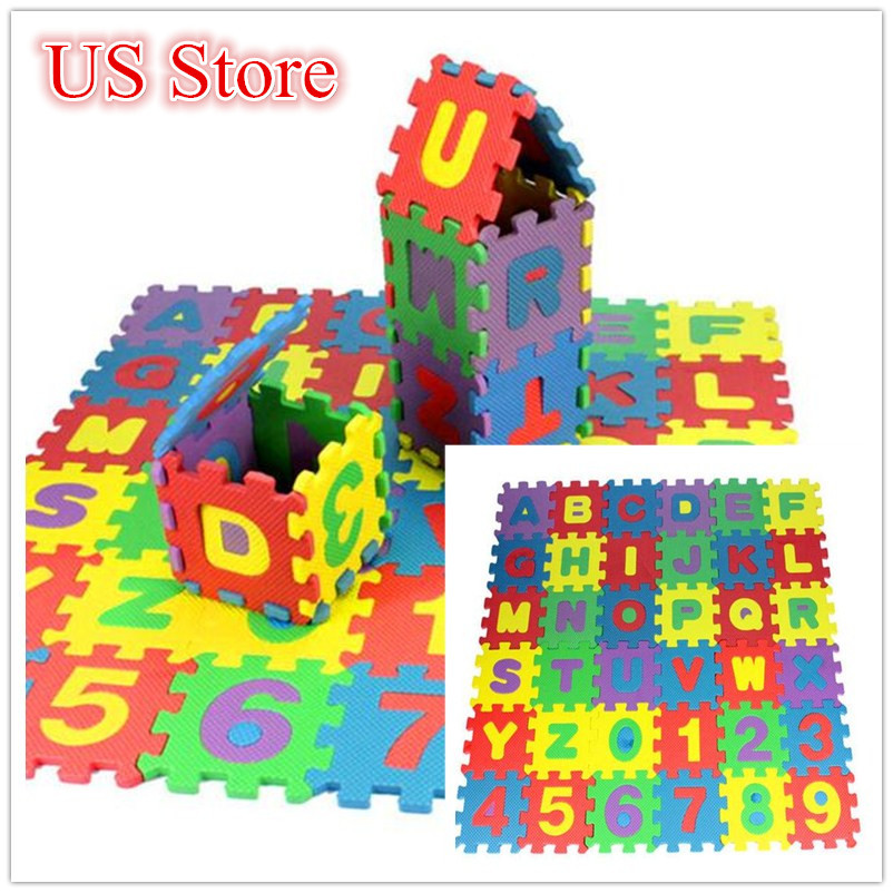 HTB1AlfUaF67gK0jSZPfq6yhhFXaV 36Pcs ABC flashcards Baby Child Number Alphabet Puzzle Foam Maths Educational Toy Gift whole pack Foam Mat Toy HOOLER
